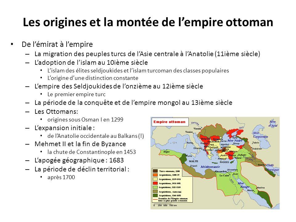 Les origines et la montée de l'empire ottoman