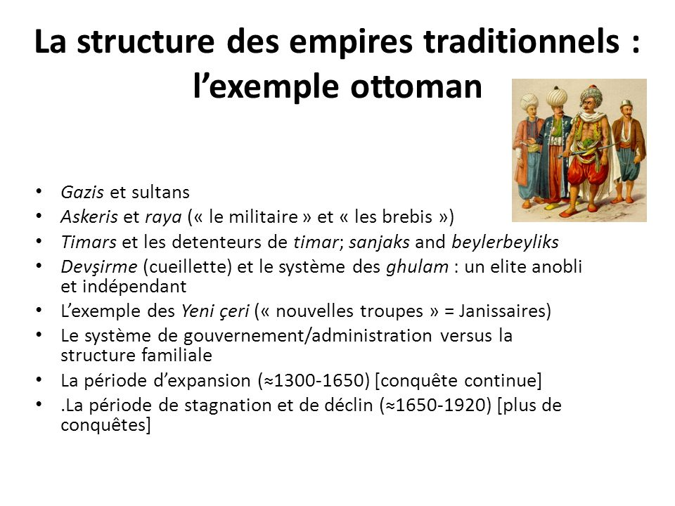La structure des empires traditionnels : l'exemple ottoman