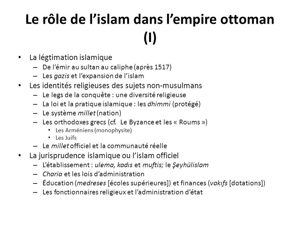 Le rôle de l'islam dans l'empire ottoman (I)