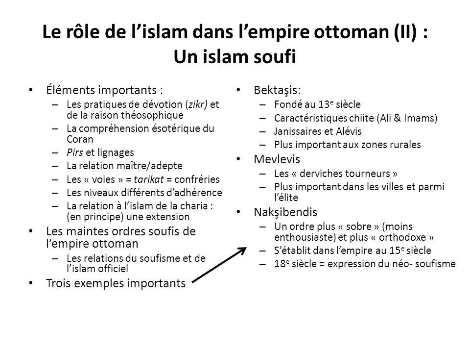 Le rôle de l'islam dans l'empire ottoman (II) : Un islam soufi