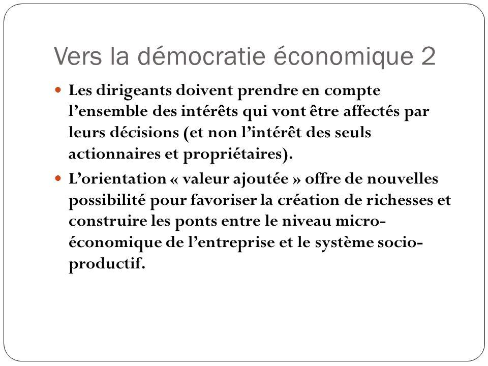 Vers la démocratie économique 2