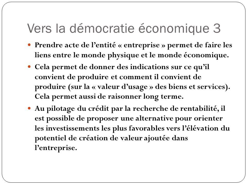 Vers la démocratie économique 3