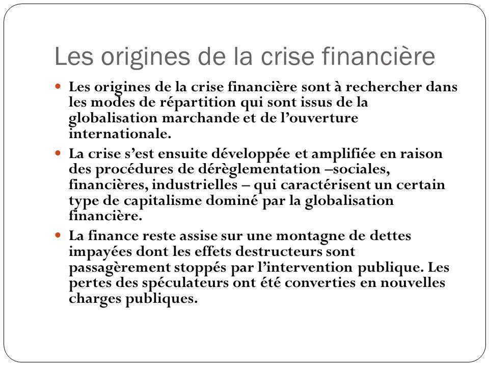 Les origines de la crise financière