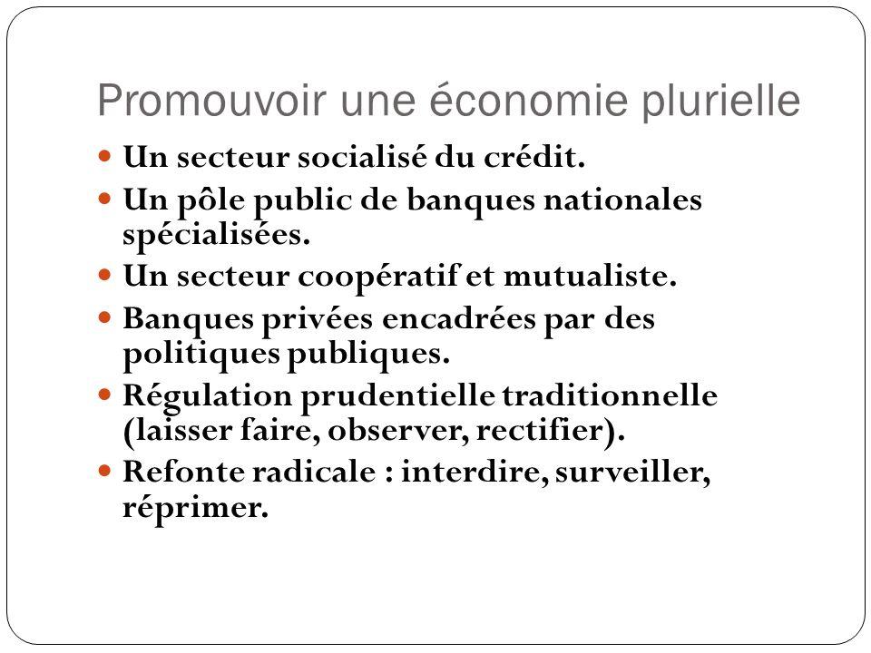 Promouvoir une économie plurielle