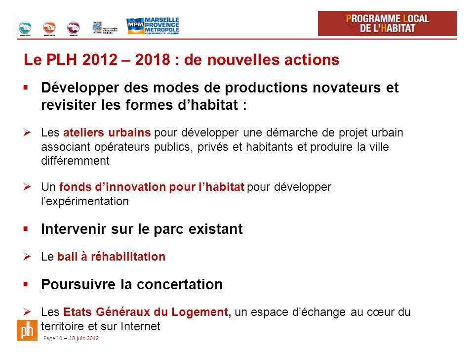Le PLH 2012 – 2018 : de nouvelles actions