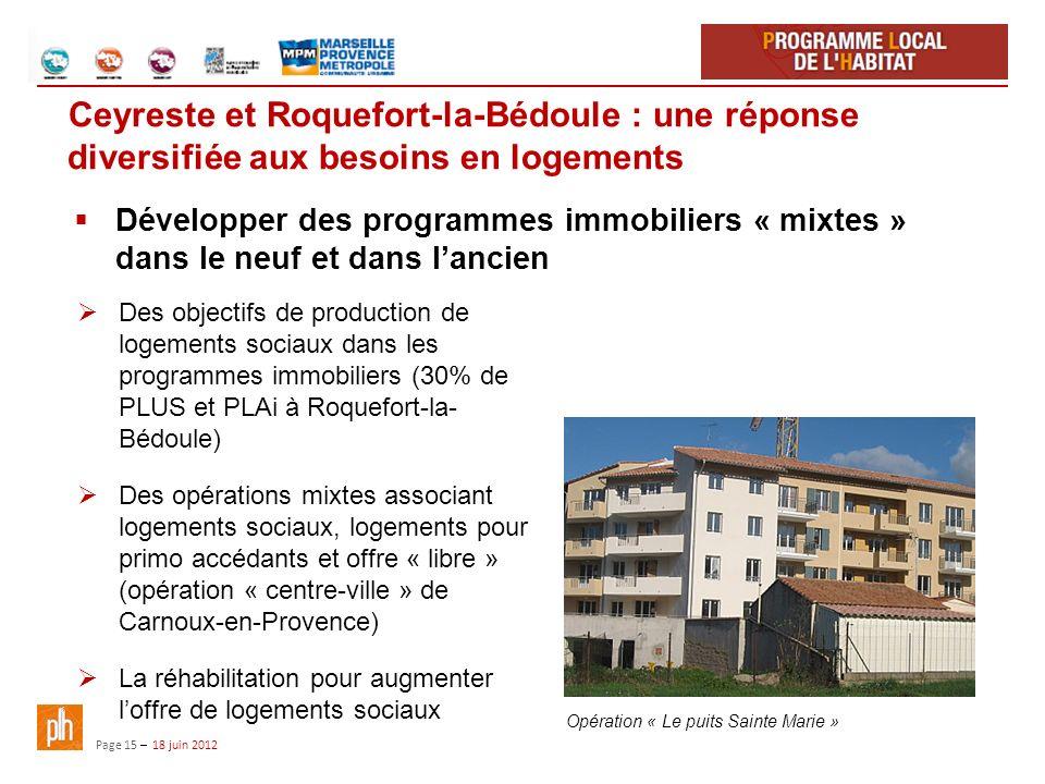 Ceyreste et Roquefort-la-Bédoule : une réponse diversifiée aux besoins en logements