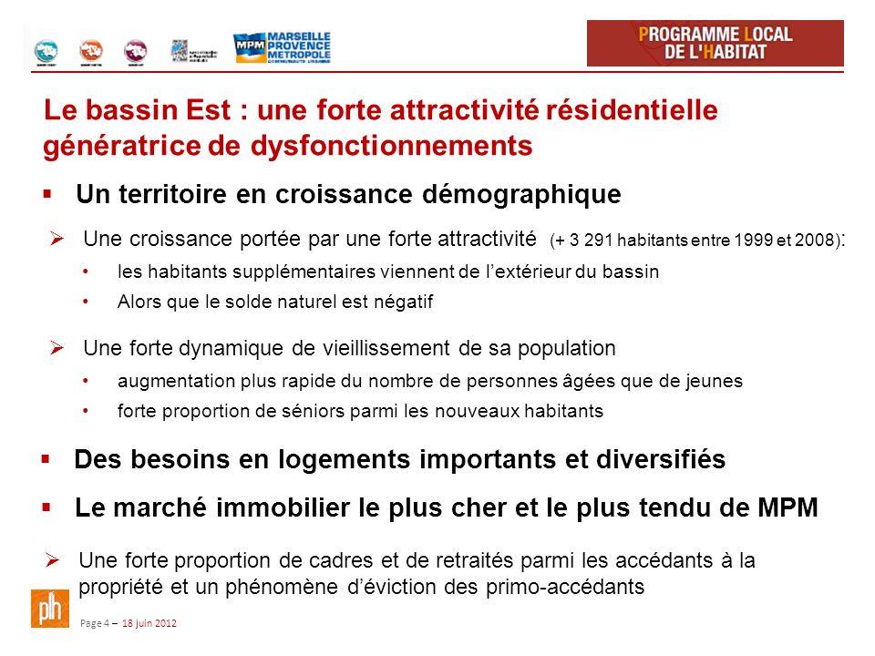 Le bassin Est : une forte attractivité résidentielle génératrice de dysfonctionnements