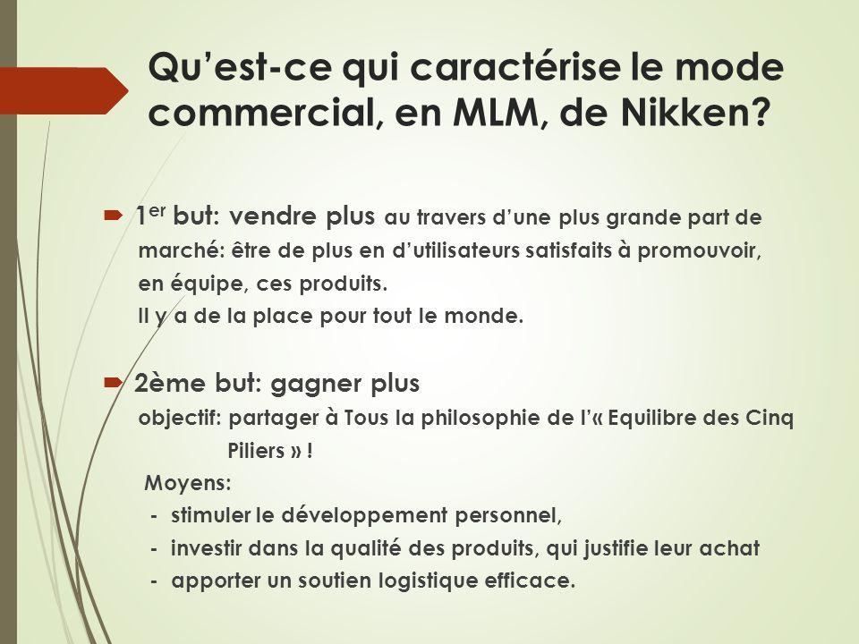 Qu'est-ce qui caractérise le mode commercial, en MLM, de Nikken