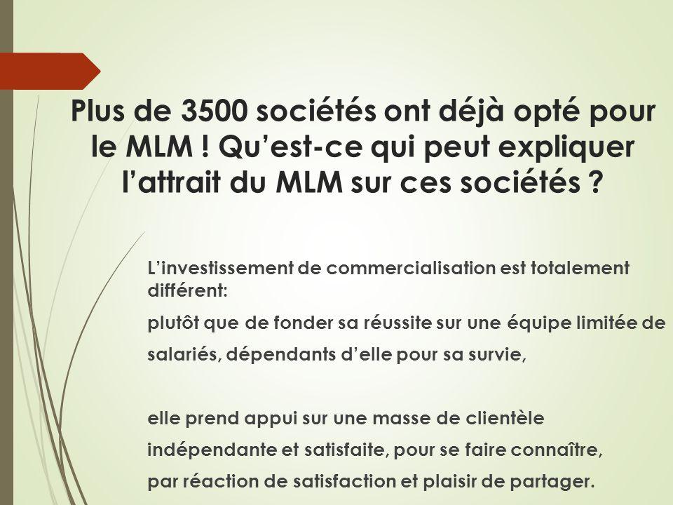 Plus de 3500 sociétés ont déjà opté pour le MLM