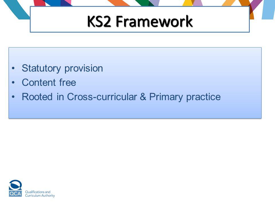KS2 Framework Statutory provision Content free