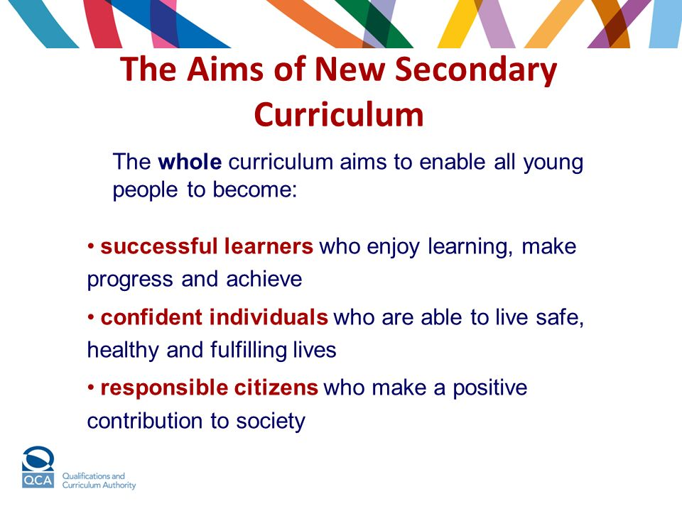 The Aims of New Secondary Curriculum