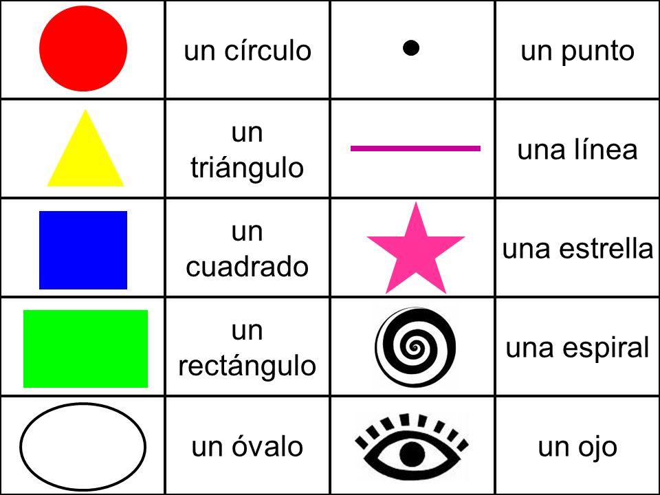 un círculo un punto un triángulo una línea un cuadrado una estrella