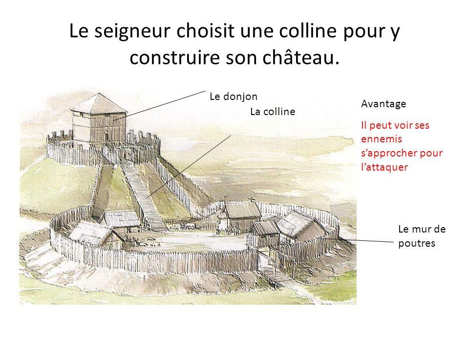 Le seigneur choisit une colline pour y construire son château.