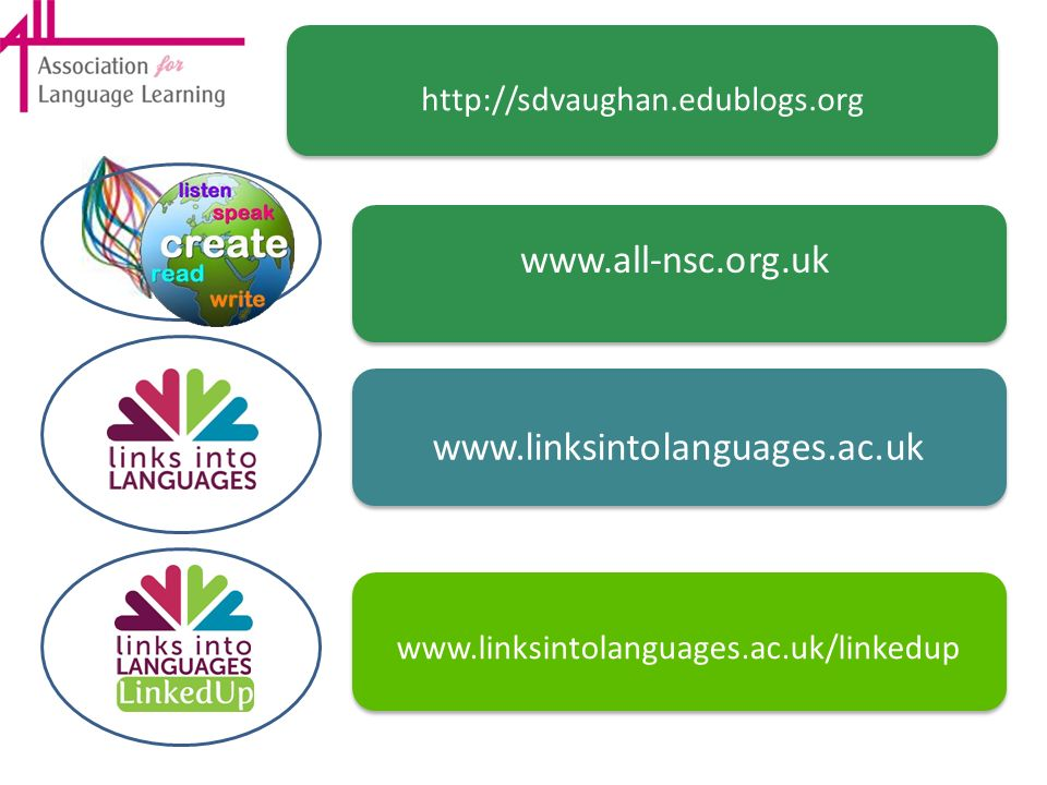 www.all-nsc.org.uk www.linksintolanguages.ac.uk
