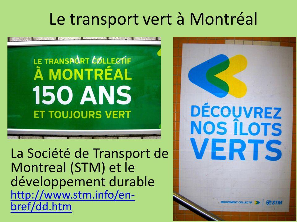 Le transport vert à Montréal