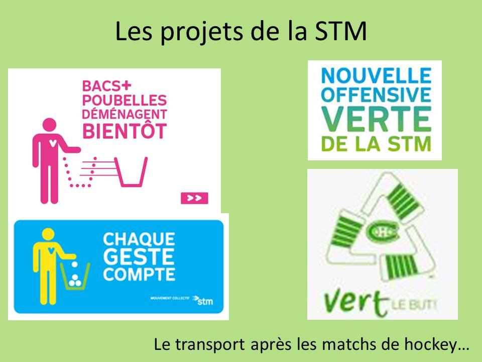 Les projets de la STM Le transport après les matchs de hockey…