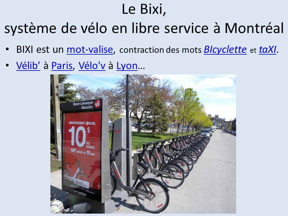 Le Bixi, système de vélo en libre service à Montréal
