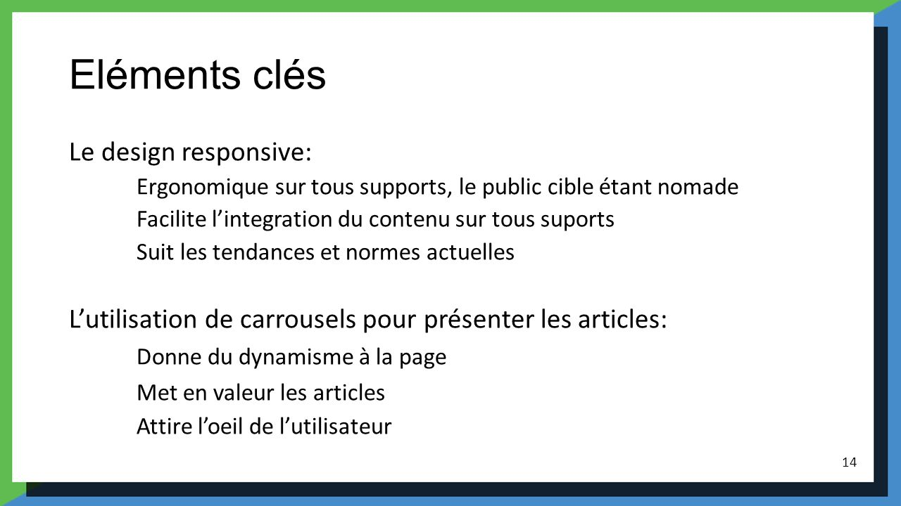 Eléments clés Le design responsive:
