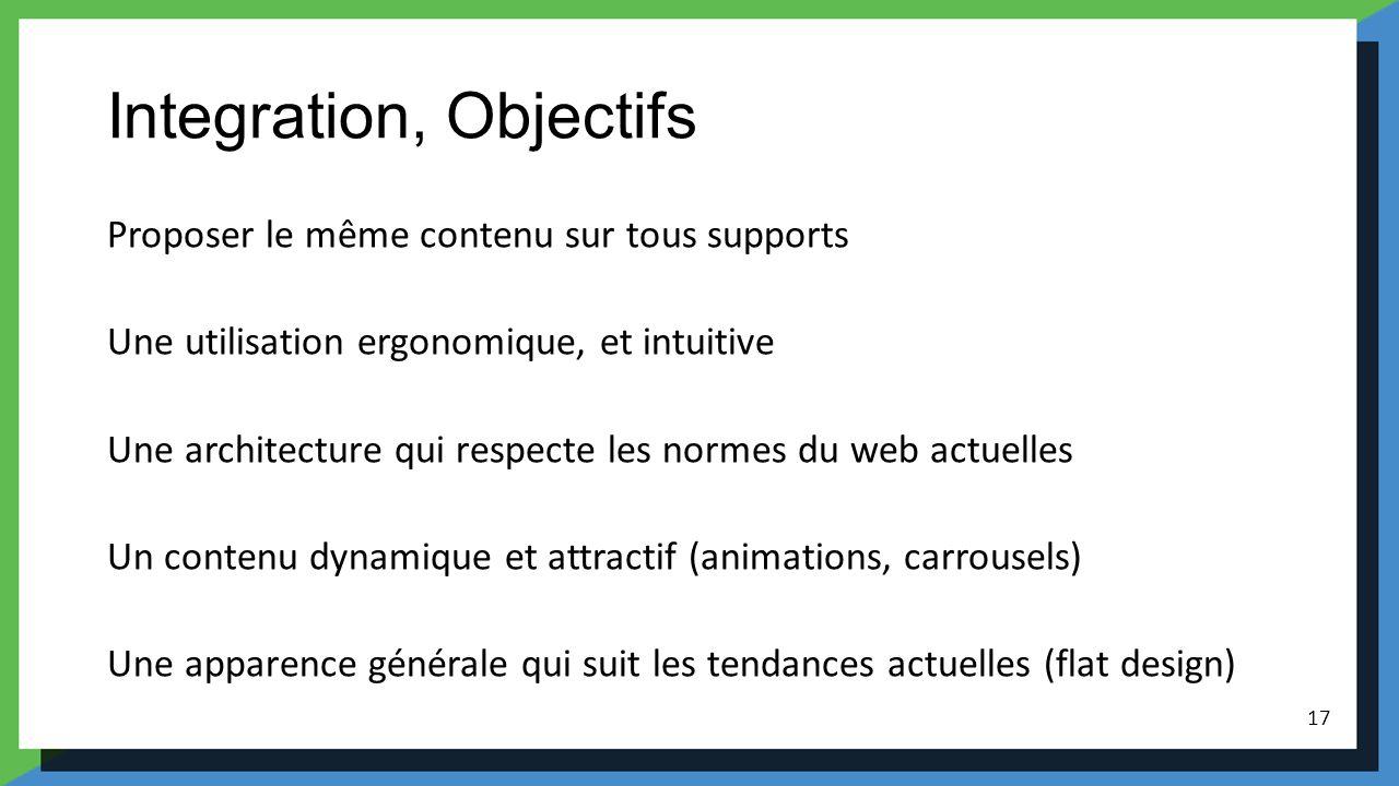 Integration, Objectifs