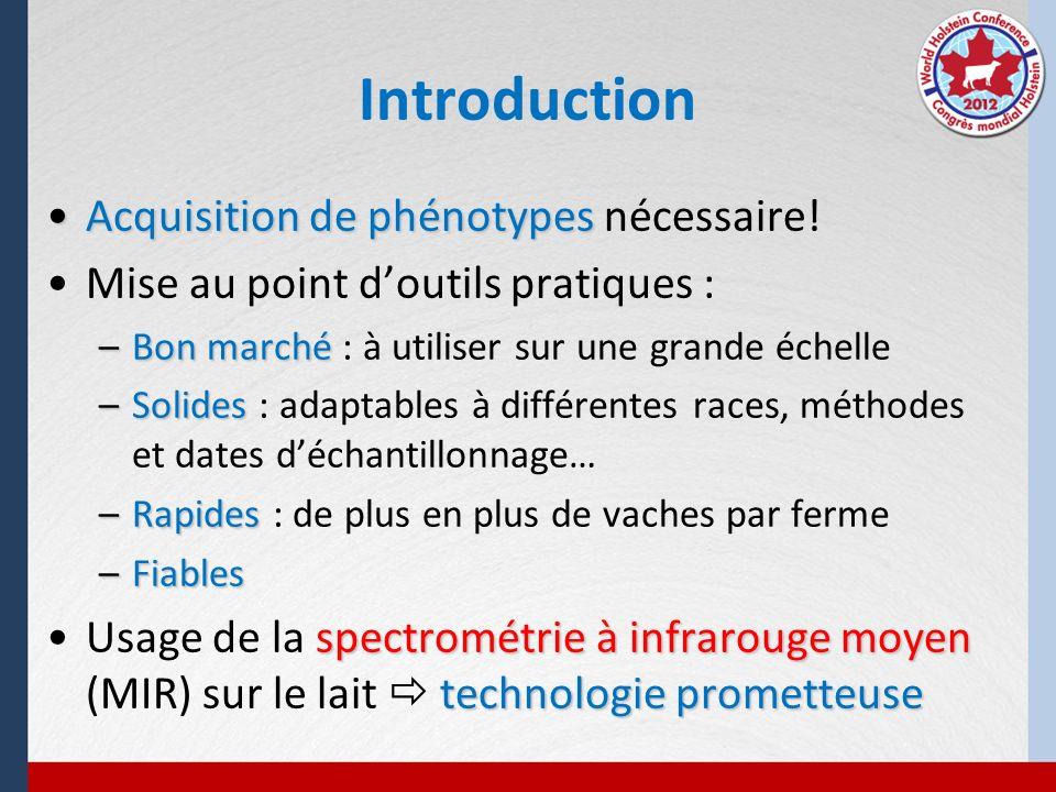Introduction Acquisition de phénotypes nécessaire!