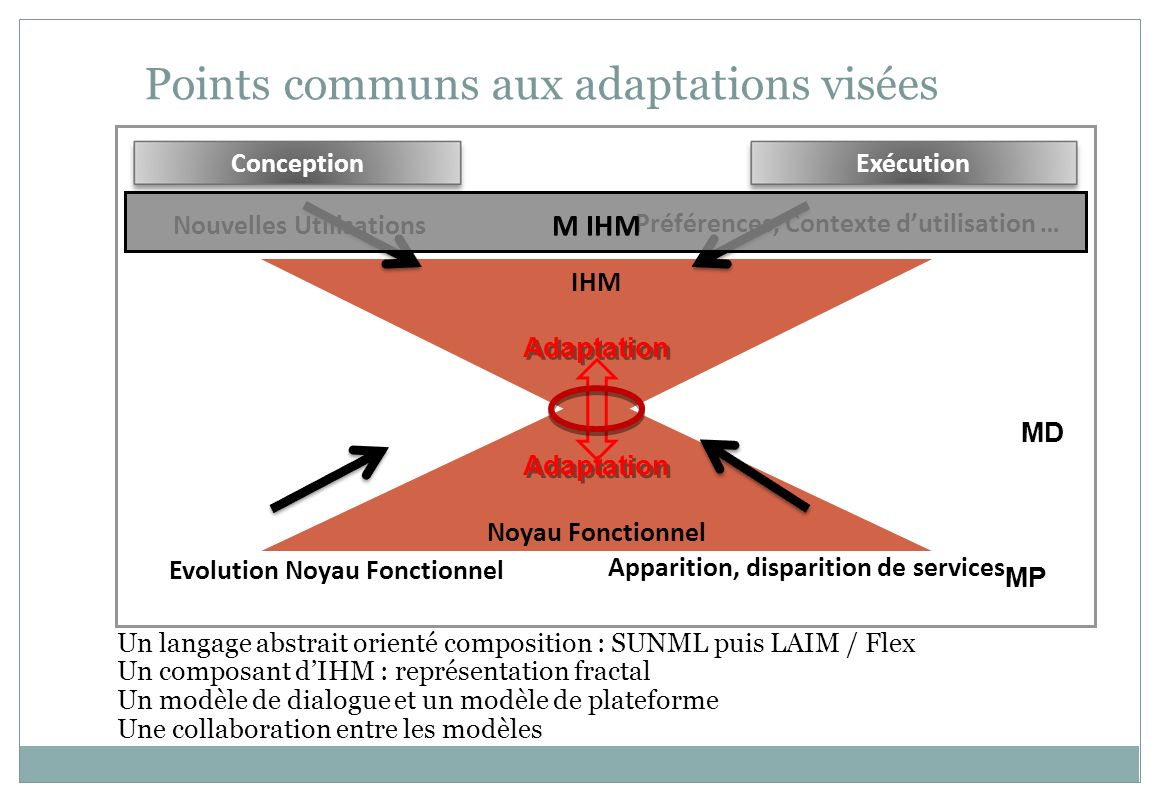 Points communs aux adaptations visées