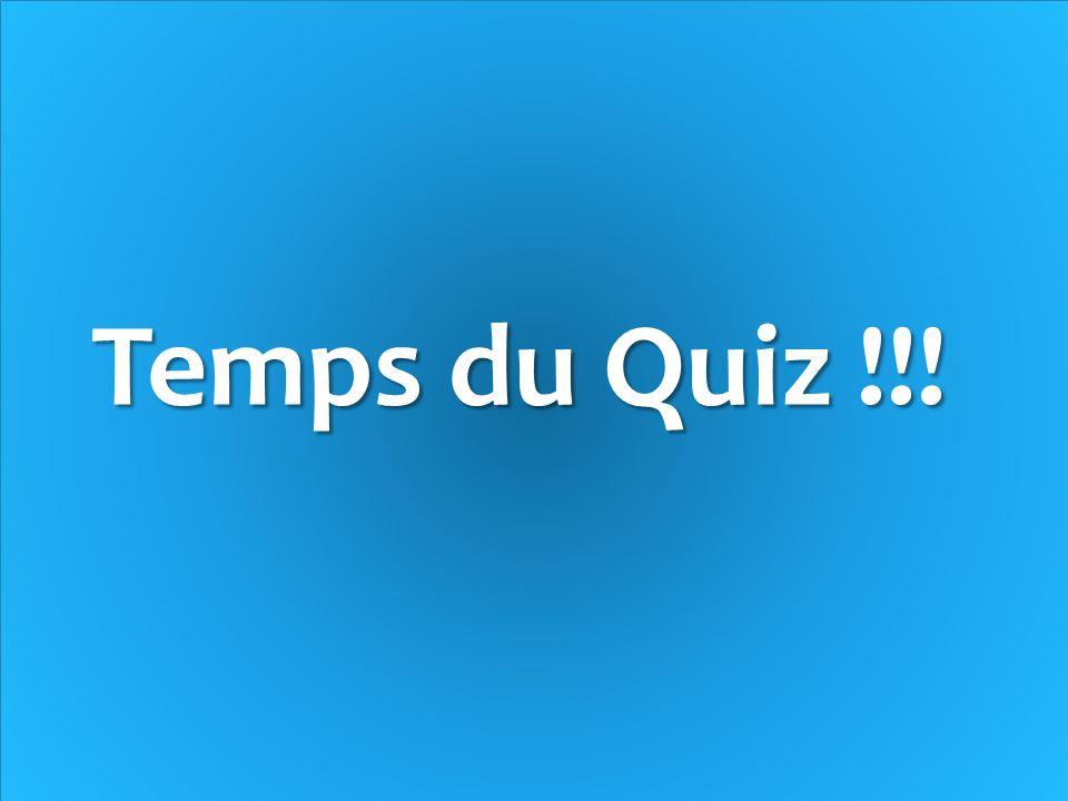 Temps du Quiz !!!