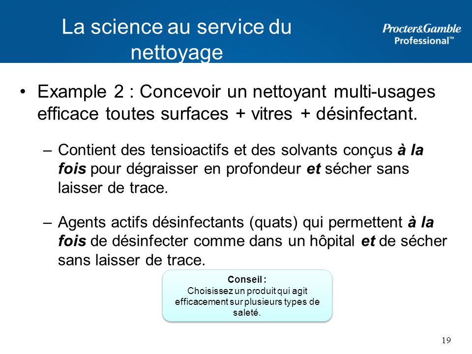 La science au service du nettoyage