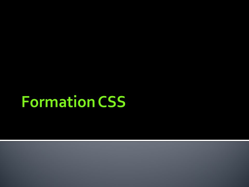 Formation CSS