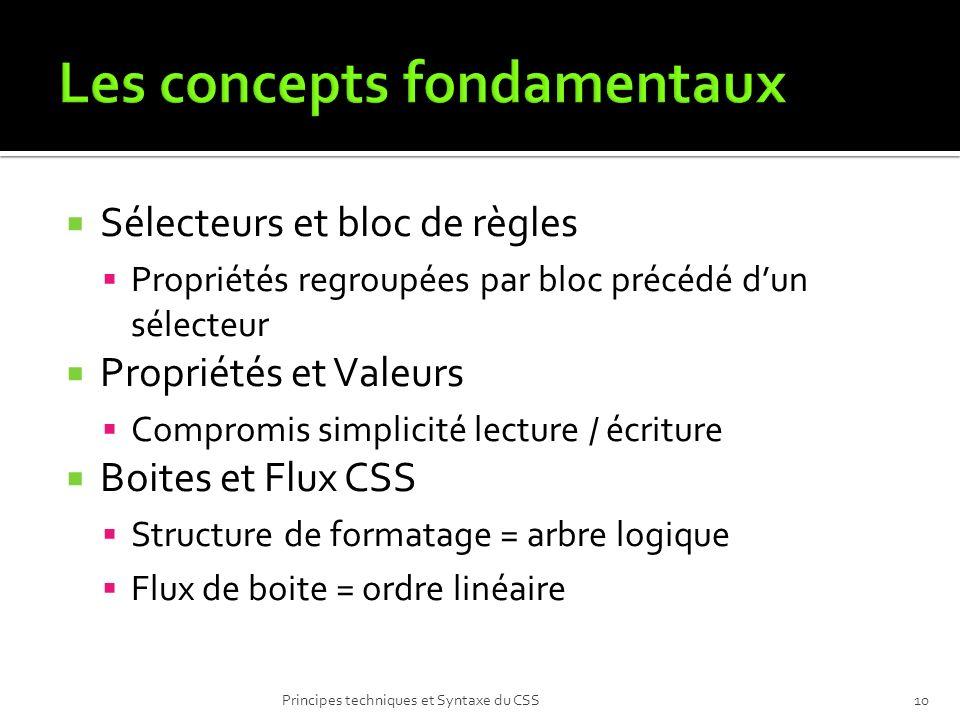 Les concepts fondamentaux