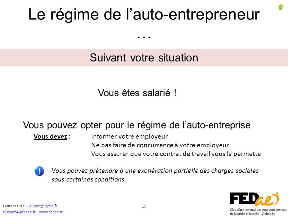 Le régime de l'auto-entrepreneur …
