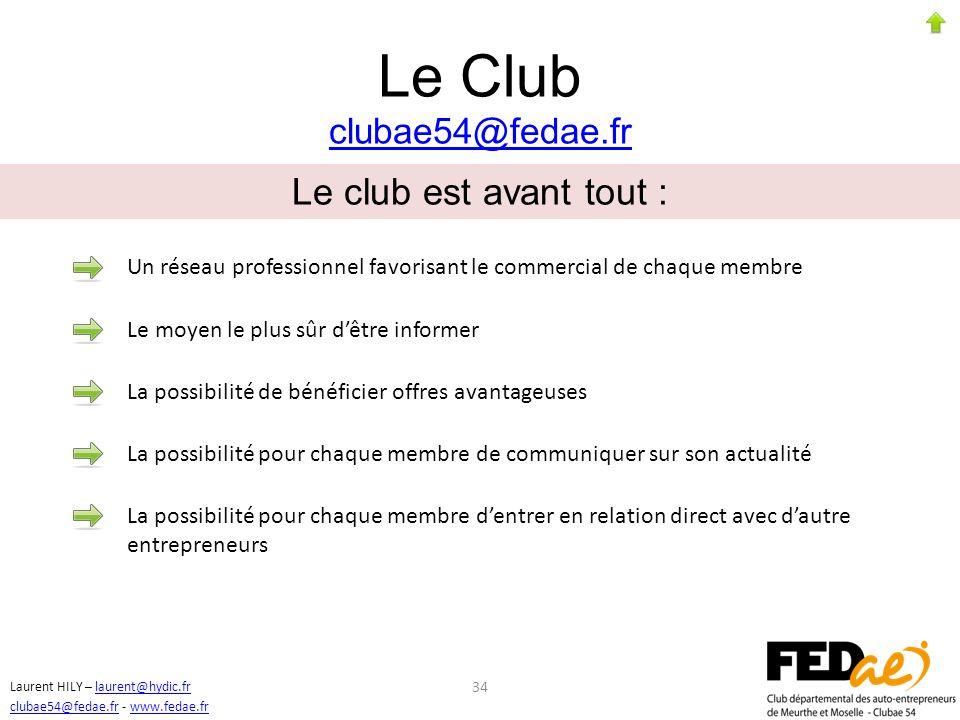 Le Club clubae54@fedae.fr