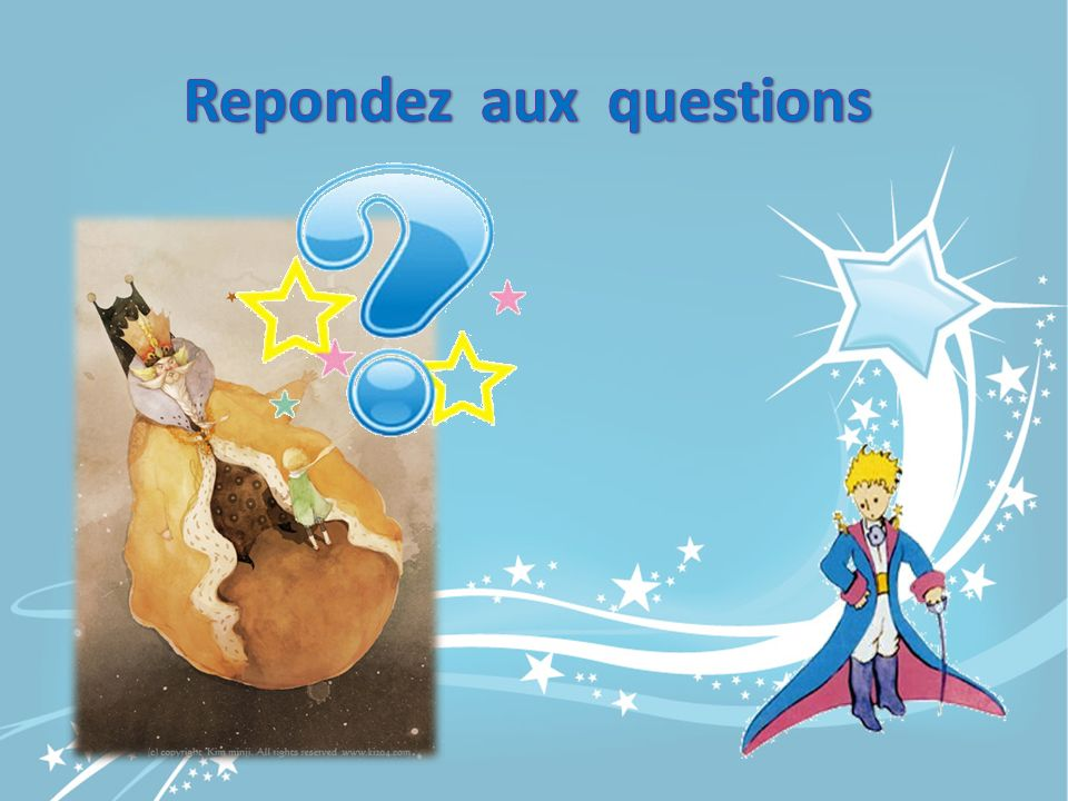 Repondez aux questions