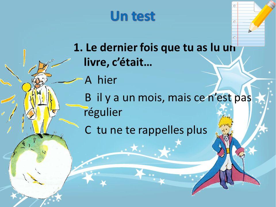 Un test 1.