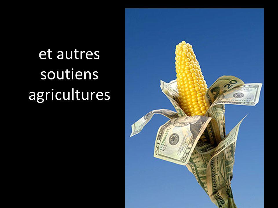 et autres soutiens agricultures