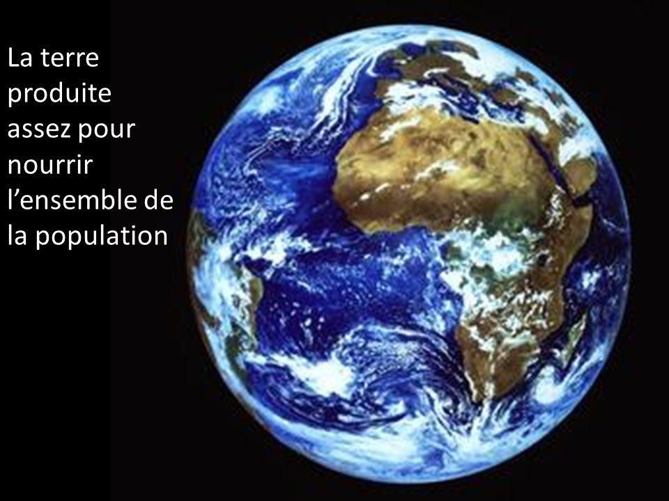 La terre produite assez pour nourrir l'ensemble de la population