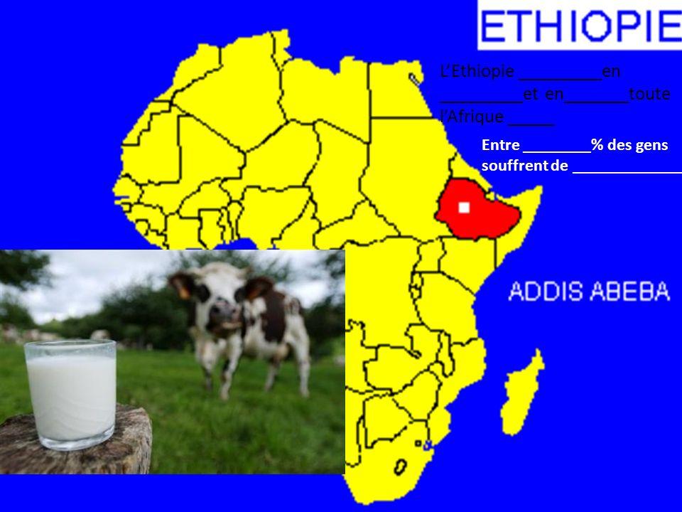 L'Ethiopie _________en _________et en_______toute l'Afrique _____