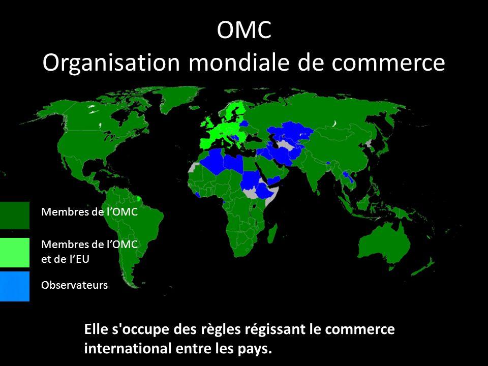 OMC Organisation mondiale de commerce