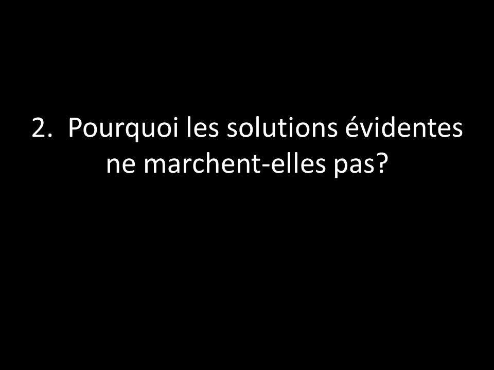 2. Pourquoi les solutions évidentes ne marchent-elles pas