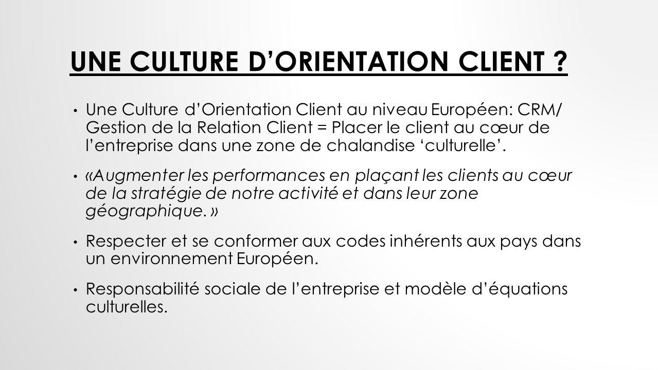 Une Culture d'Orientation Client