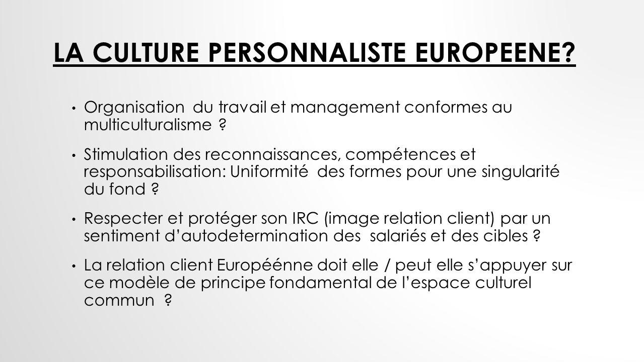 La culture personnaliste europeene