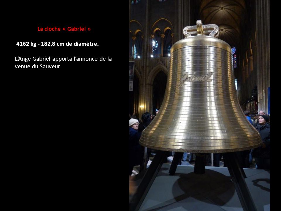 La cloche « Gabriel » 4162 kg - 182,8 cm de diamètre.