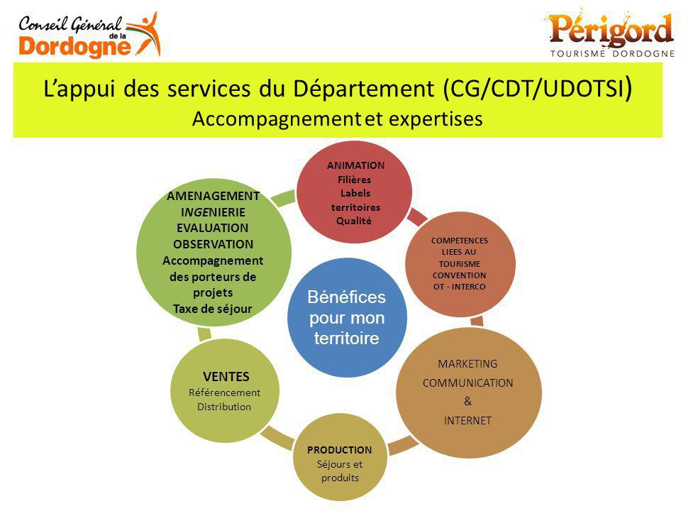 L'appui des services du Département (CG/CDT/UDOTSI) Accompagnement et expertises