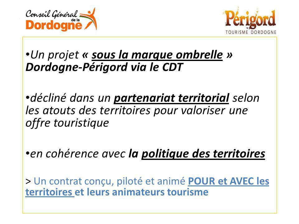 Un projet « sous la marque ombrelle » Dordogne-Périgord via le CDT