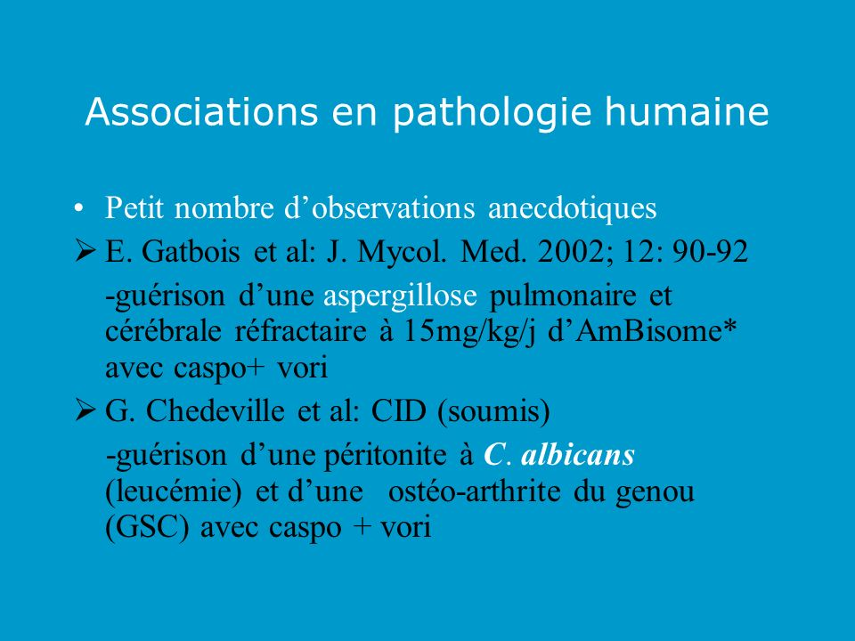 Associations en pathologie humaine