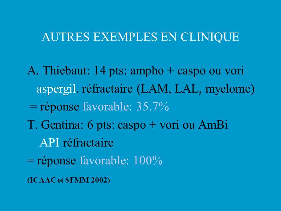 AUTRES EXEMPLES EN CLINIQUE