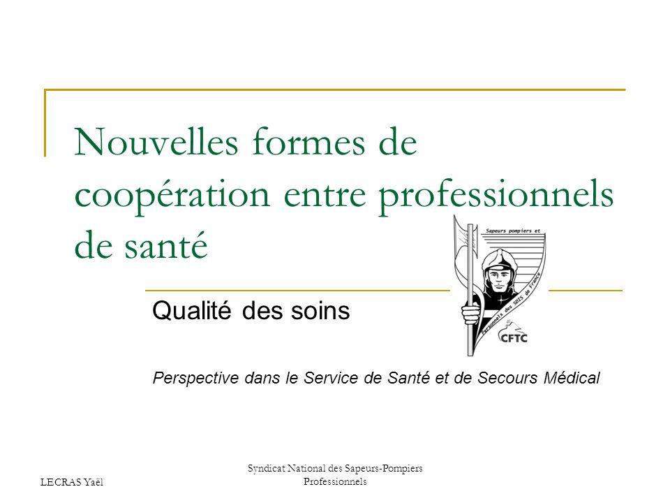 Nouvelles formes de coopération entre professionnels de santé