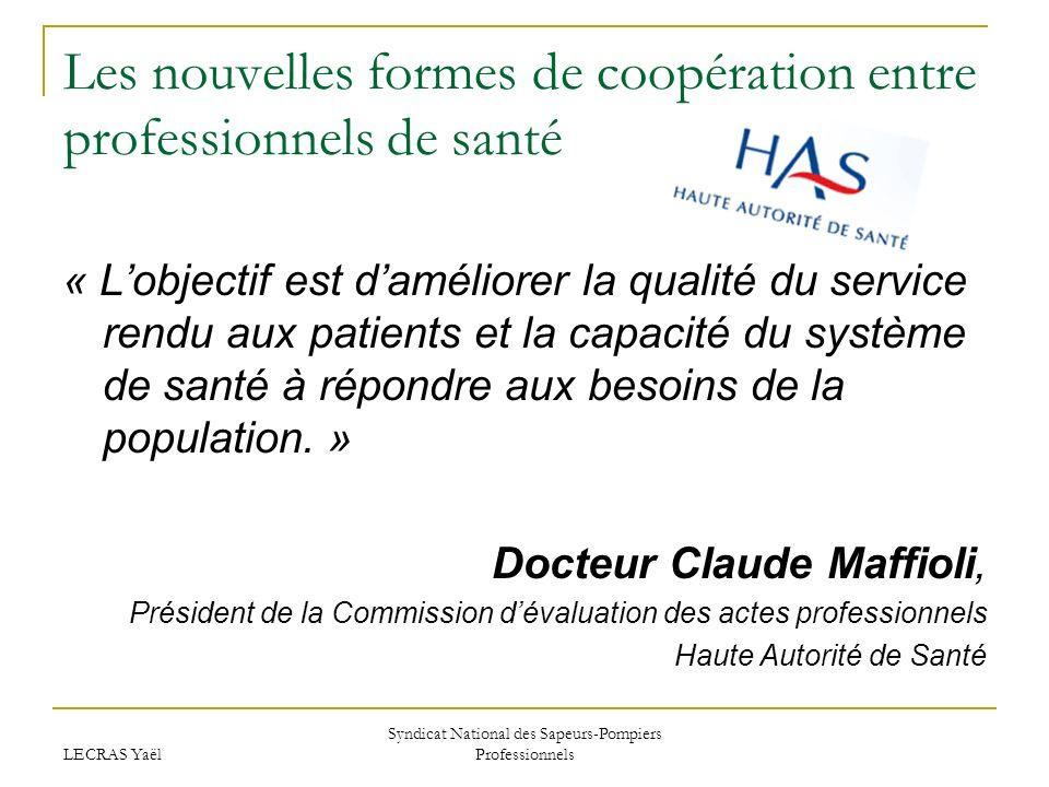 Les nouvelles formes de coopération entre professionnels de santé