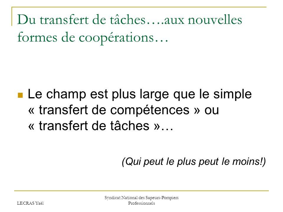Du transfert de tâches….aux nouvelles formes de coopérations…
