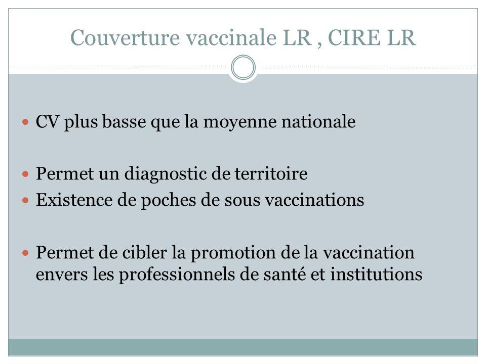 Couverture vaccinale LR , CIRE LR