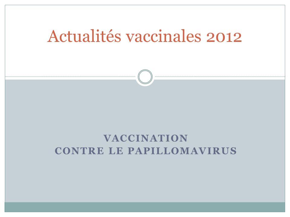 Actualités vaccinales 2012